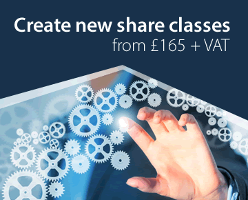 Create new share classes from £165 + VAT