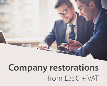 Company restorations from £350 + VAT